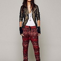 Speckled Slouch Pant