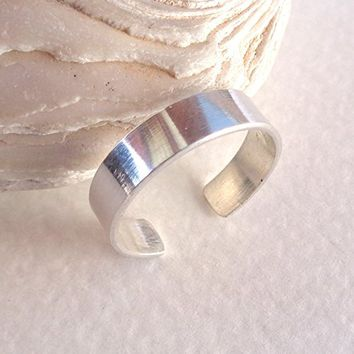 Toe-Midi-Knuckle Ring Stackable Minimal Open Band Adjustable size 925 Sterling Silver