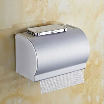 Stainless Steel Roll Paper Holder Bathroom Toilet  Sealed Toilet Tissue Box Bathroom Accessories And Items For Families