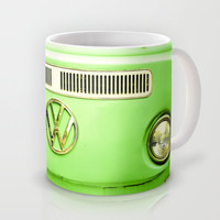 Summer of Love - Groovy Green Mug by Olivia Joy StClaire