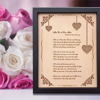 Lik36 Leather Engraved Wedding Third Anniversary love poem declaration of love