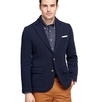 Men's Merino Wool Two-Button Blazer | Brooks Brothers
