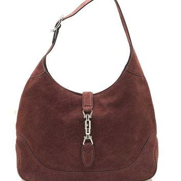 Gucci New Jackie Suede Hobo Shoulder Bag 277520, Red