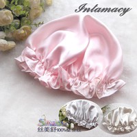 100% real Silk nightcap Silk Hair Bath cap