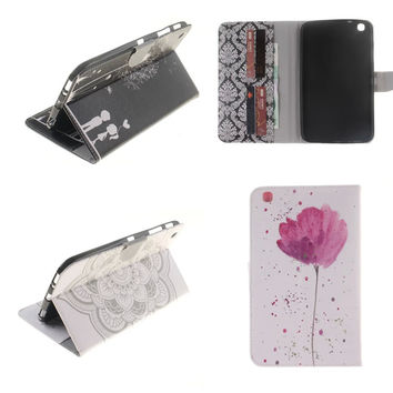 TX-DX  Hot Ultra Slim Stand Flip Cute Case For Samsung galaxy tab 3 8.0 inch cases SM T310 T311 T315 Tablet Back Cover