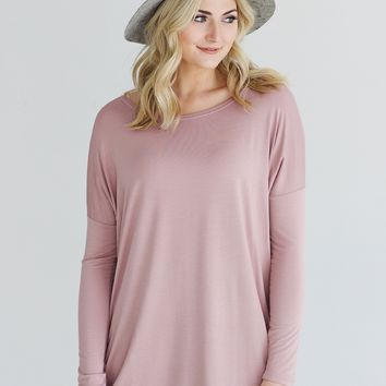 Mauve PIKO Long Sleeve Top