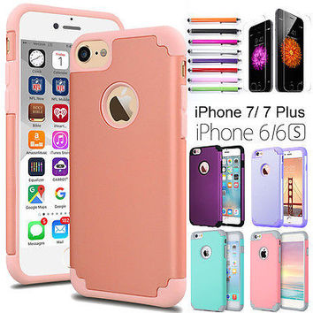Slim Hybrid Shockproof Ultra-thin Back Case Cover For iPhone 7/ iPhone 7 Plus 6s