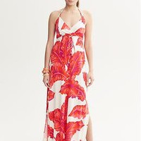 Milly Collection Banana-Leaf Print Dress | Banana Republic
