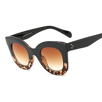New Fashion Cat Eye Sunglasses Women Vintage Brand Designer Rivet Shades Sun Glasses