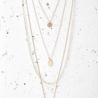 Layered Charm Necklace Set