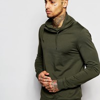 ASOS Long Sleeve T-Shirt With Double Funnel Neck