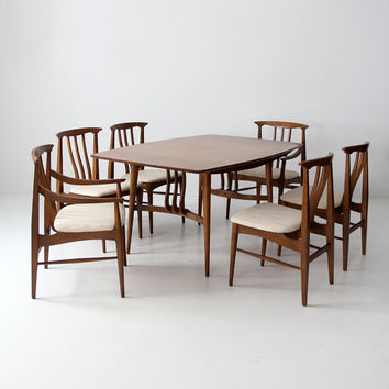 SALE mid century modern dining set, table and 6 chairs