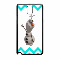 Olaf Disney Frozen Blue Chevron Samsung Galaxy Note 3 Case