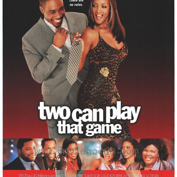 Two Can Play That Game Movie Poster 27x40 Used Vivica A Fox, David Krumholtz, Ray Wise, Wesley Thompson, Morris Chestnut, Wendy Raquel Robinson, Chris Spencer, Michael Calder, Natashia Williams, Mark Brown