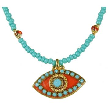 Turquoise Evil Eye Necklace, Jewelry