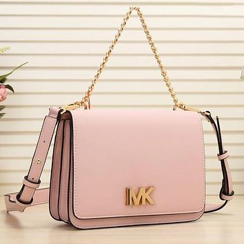 MK Michael Kors New fashion leather shoulder bag women crossbody bag Pink