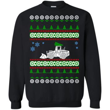 Payloader Pay Loader Excavator Ugly Christmas Sweater Heavy Equipment