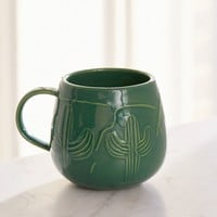 Etched Cactus Mug | Urban Outfitters