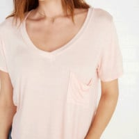 Slouchy Pocket Tee | Wet Seal