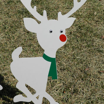 Metal Yard Art, Christmas Lawn Decor, Outdoor Christmas Decorations,Silhouette Garden Stake Christmas Decoration Garden Art Lawn Ornament