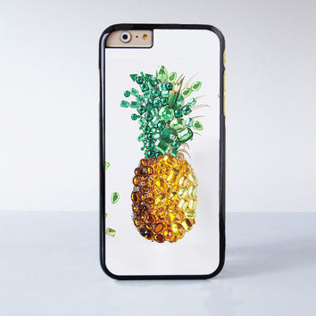 Art Glass Pineapple  Plastic Case Cover for Apple iPhone 6 6 Plus 4 4s 5 5s 5c
