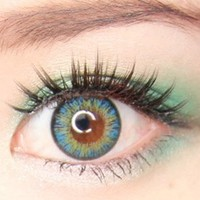 NEO Vision Shimmer Aqua Turquoise circle lens cosmetic colored contacts  | EyeCandy's