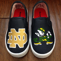 Custom Painted Shoes- Notre Dame