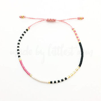 Pink Tribal Friendship Bracelet - Best Friend Gift - Best Friend Bracelet - Beaded Bracelet - Gift for Her - Best Friend Birthday