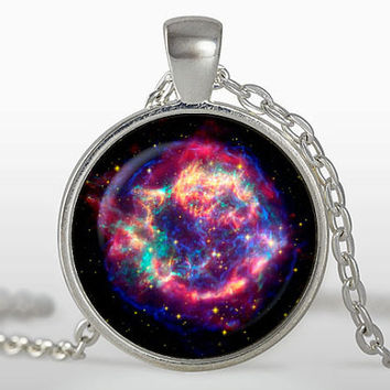 Wonderful Galaxy nebula space necklace vintage gift locket necklace pendant