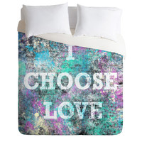 Amy Smith I Choose Love Duvet Cover