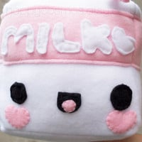 Cubed Milk Plush - Kawaii Plushie , Cute Stuffed Animal