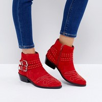 ASOS ASHDEN Suede Studded Boots at asos.com