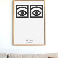 Olle Eksell Cocoa Eyes Poster, original layout