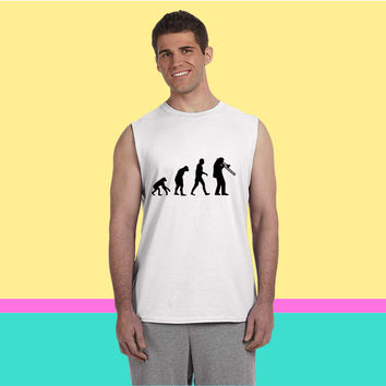 Trombone Evolution Sleeveless T-shirt