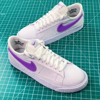 Nike Sportswear Blazer Low White Purple Women's Sneakers - Best Online Sale