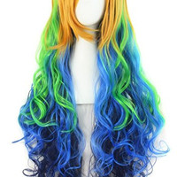 "24"" Wavy Multi-Color Lolita Cosplay Wig Party Wig"