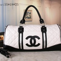 CHANEL Women Fashion Leather Tote Handbag Travel Luggage Bag G-MYJSY-BB