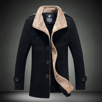 Wool Blend Pile Lined Short Coat