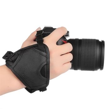 DSLR Camera PU Leather Grip Rapid Wrist Strap Soft Hand Grip