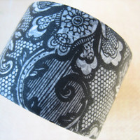 Washi Tape - Single Roll - Faux Lace Print - Black