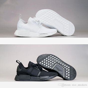 2017 New arrival NMD Runner R1 boost Japan Triple black Triple white Men Running Shoes Women Sport Sneakers Primeknit shoes eur 36-45