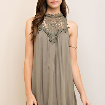 Martinis and Moonlight Dress - Olive
