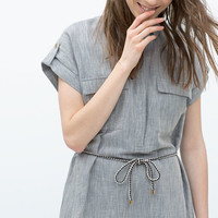 LINEN SHIRTDRESS BELT