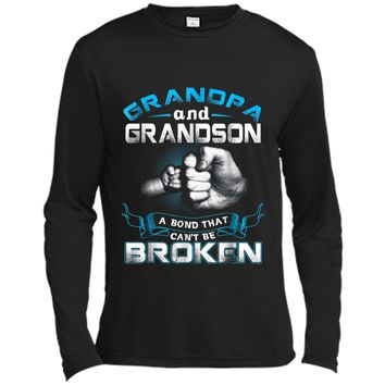 Funny Grandpa Grandfather  Fathers Day Birthday Gift Long Sleeve Moisture Absorbing Shirt