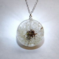 One True Dandelion Necklace 01 Resin by NaturalPrettyThings
