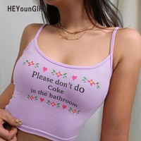 PLEASE DONT DO COKE IN THE BATHROOM crop top (more colors)