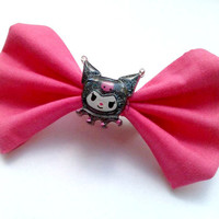 Small Pink Kuromi Hair Bow