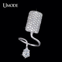 0.75 Carat Fingernail Ring, Cubic Zirconia Ring, Adjustable Finger Nail Ring, Unique Ring, Knuckle Ring, Fingernail Jewelry, Midi Ring