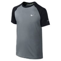 Nike Miler GFX Short-Sleeve Crew Boys' Running Shirt Size XS (Grey)