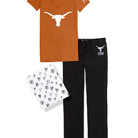 University of Texas V-neck Tee & Boyfriend Pant Gift Set - PINK - Victoria's Secret